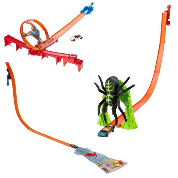Hot Wheels HW City Choose Either Ultimate Spinout - Ninja Knockout - Spider Slam